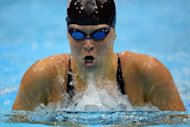 US swimmer Elizabeth Beisel competes in the women's 400m individual medley final swimming event at the London 2012 Olympic Games