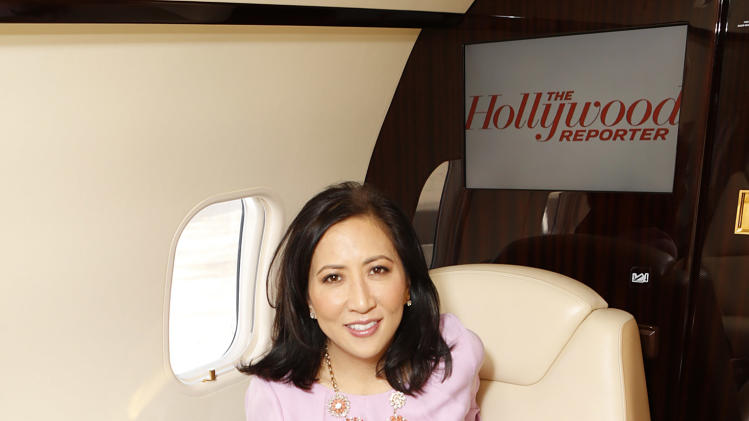 THR Editorial Director Janice Min is seen at The Hollywood Reporter's Palm Springs Shuttle presented by Bombardier Business Aircraft - Day 2, on Saturday, January 5, 2013 in Palm Springs, California. (Photo by Todd Williamson/Invision for Bombardier/AP Images)
