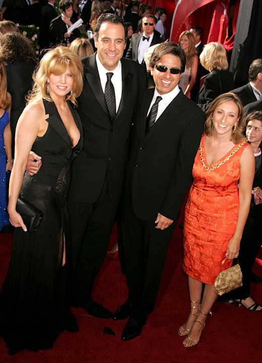 Brad Garrett, Ray Romano and guests at The 56th Annual Primetime Emmy Awards.