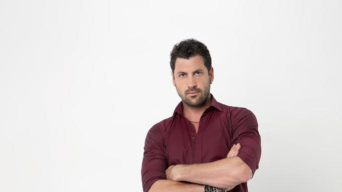 "Pro dancer Maksim Chmerkovskiy partners with Hope Solo on the 13th season of ""Dancing with the Stars."""