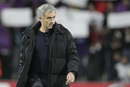 Chelsea's coach Mourinho arrives on pitch prior to Champions League soccer match against Maribor in Maribor