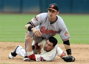 Orioles beat Indians 4-3 for 5th win in a row
