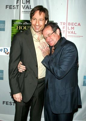 David Duchovny and Robin Williams Tribeca Film Festival, May 7, 2004