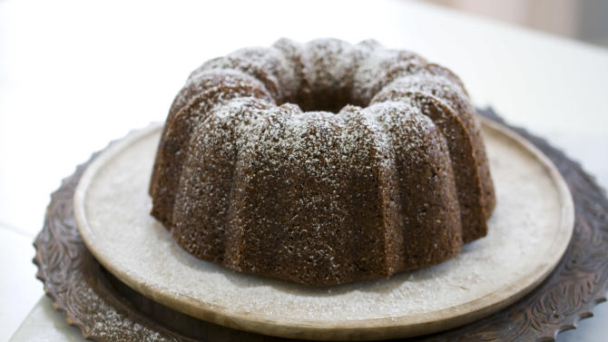 This Sept. 8, 2013 photo shows chocolate banana ginger quick bread in Concord, N.H. (AP Photo/Matthew Mead)