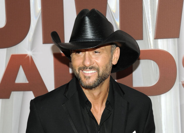 FILE - In this Nov. 9, 2011 file photo, country singer Tim McGraw arrives at the 45th Annual CMA Awards in Nashville, Tenn. McGraw has signed a multi-album deal with Scott Borchetta&#39;s Big Machine Records, officially ending his acrimonious relationship with his only previous label, Curb Records. (AP Photo/Evan Agostini, file)