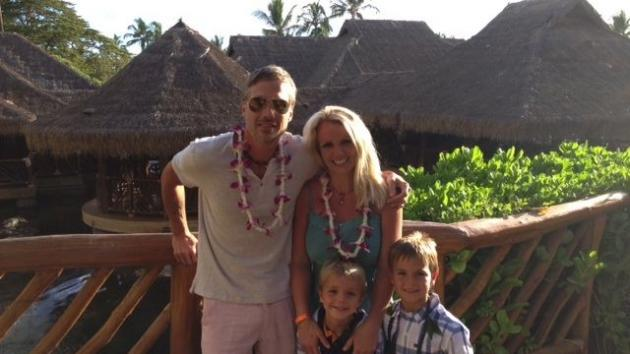Jason Trawick, Britney Spears and her two sons are seen in Hawaii on July 4, 2012 -- Britney Spears/Twitpic