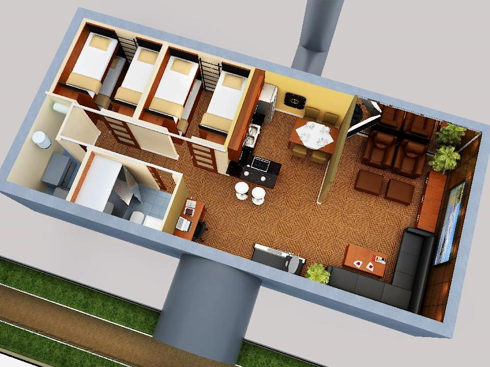 "This artist rendering released by Vivos, an underground shelter network, shows a design for an underground bunker.  Spike TV will be airing a six-episode series called ""Last Family on Earth"" a competition in which survivalists will compete for an underground bunker in an undisclosed location. The series will air in the fall. (AP Photo/Vivos via Spike TV)"