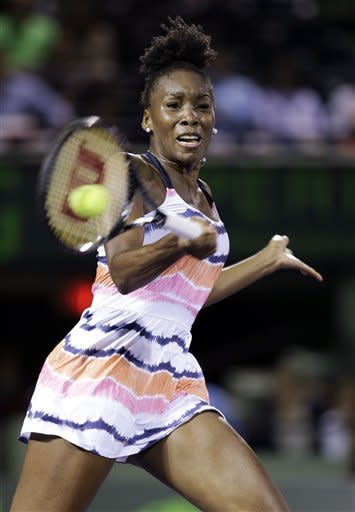 Back injury sidelines Venus Williams at Sony Open