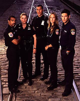 Michael Beach as Doc, Molly Price as Yokas, Coby Bell as Ty Davis, Kim Raver as Kim Zambrano and Eddie Cibrian as Jimmy on NBC's Third Watch Third Watch
