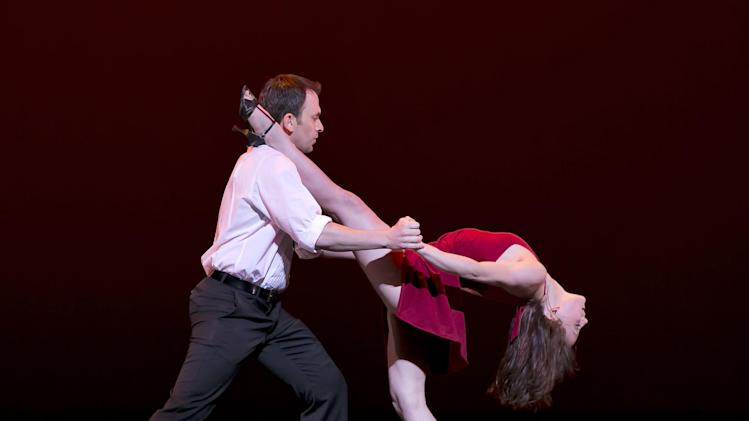 In this April 23, 2012 photo released by New York City Center, dancers perform a tango during a celebration for Capezio's 125th Anniversary at New York City Center. (AP Photo/New York City Center, Richard Termine)