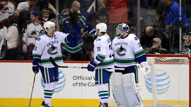 NHL: Vancouver Canucks at Colorado Avalanche