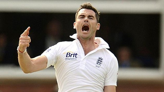 James Anderson celebrates a wicket at Lord's (Reuters)