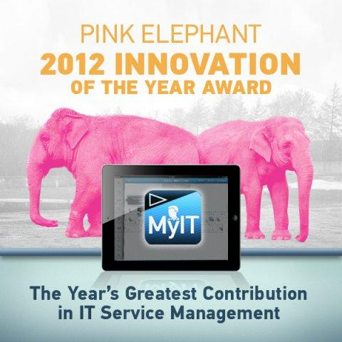 BMC MyIT Wins Prestigious Pink Elephant Global Innovation Award