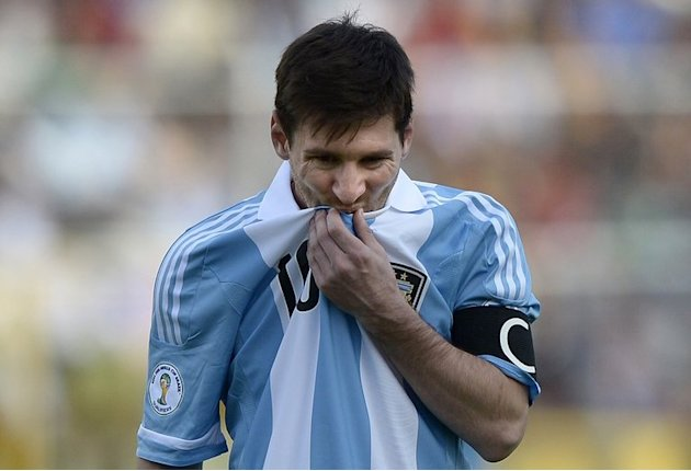 Argentina's Lionel Messi during the 2014 World Cup qualification match against Bolivia in La Paz, on March 26, 2013
