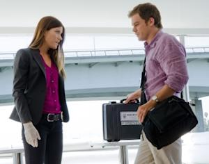 Michael C. Hall and Jennifer Carpenter in a scene from 'Dexter' Season 6  -- Showtime