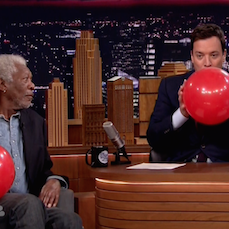 Fallon and Morgan Freeman Talk on Helium