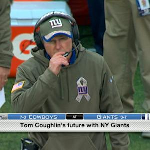 Are the New York Giants playing for head coach Tom Coughlin?