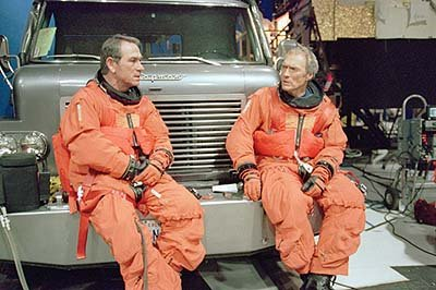 Tommy Lee Jones and Clint Eastwood in Warner Brothers' Space Cowboys