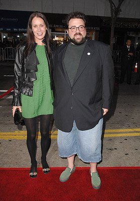 Kevin Smith and wife Jennifer at the Westwood premiere of Miramax Films' Gone Baby Gone