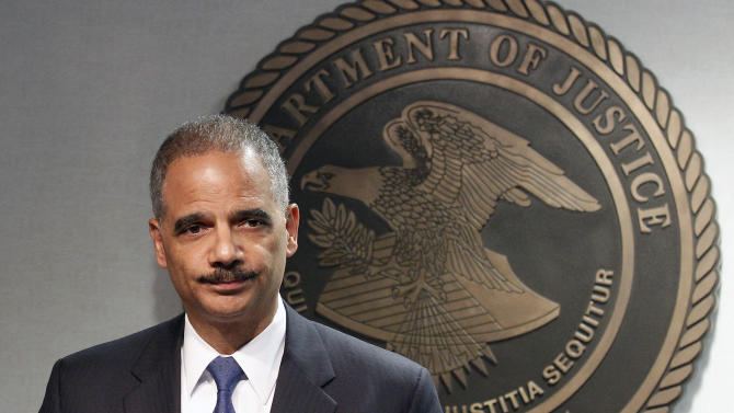 Attoney General Eric Holder speaks during  a news conference in New Orleans, Thursday, June 28, 2012. The Obama administration and House Republicans refused to find a middle ground in a dispute over documents related to a botched gun-tracking operation, and the GOP plunged ahead with plans for precedent-setting votes Thursday to hold Attorney General Eric Holder in civil and criminal contempt o Congress. (AP Photo/Bill Haber)
