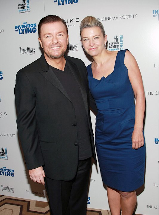 The Invention of Lying NY Screening 2009 Ricky Gervais