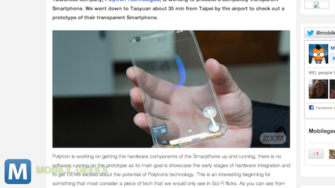 Polyvision Technologies Debuts Transparent Phone Prototype