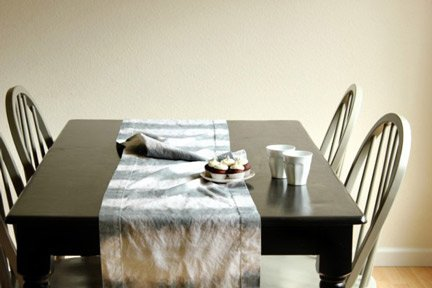 Dip-dyed Table Runner