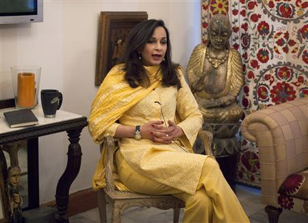 Sherry Rehman, Pakistan&#39;s ambassador to the U.S., speaks during an interview with Reuters in Islamabad July 5, 2012. REUTERS/Faisal Mahmood