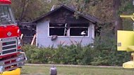 Two women died when this house in Winnipeg Beach, Man., was destroyed by fire on Sunday morning.