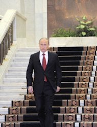 Russian Prime Minister Vladimir Putin leaves the government headquarters to take part in his inauguration ceremony as new Russia's president Monday, May, 7 2012.(AP Photo/RIA Novosti, Yana Lapikova, Government Press Service)