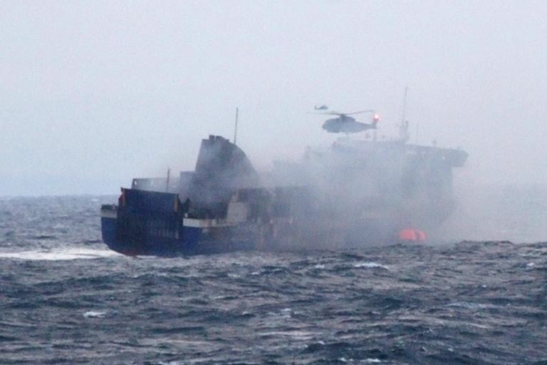 Rescued Briton 'absolutely terrified' as flames engulf ferry