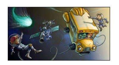 Early concept art for The Magic School Bus 360 degrees, an original new CG animated TV series from Scholastic Media, launching on Netflix in 2016. The...