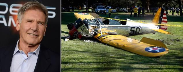 Harrison Ford crash-lands small plane