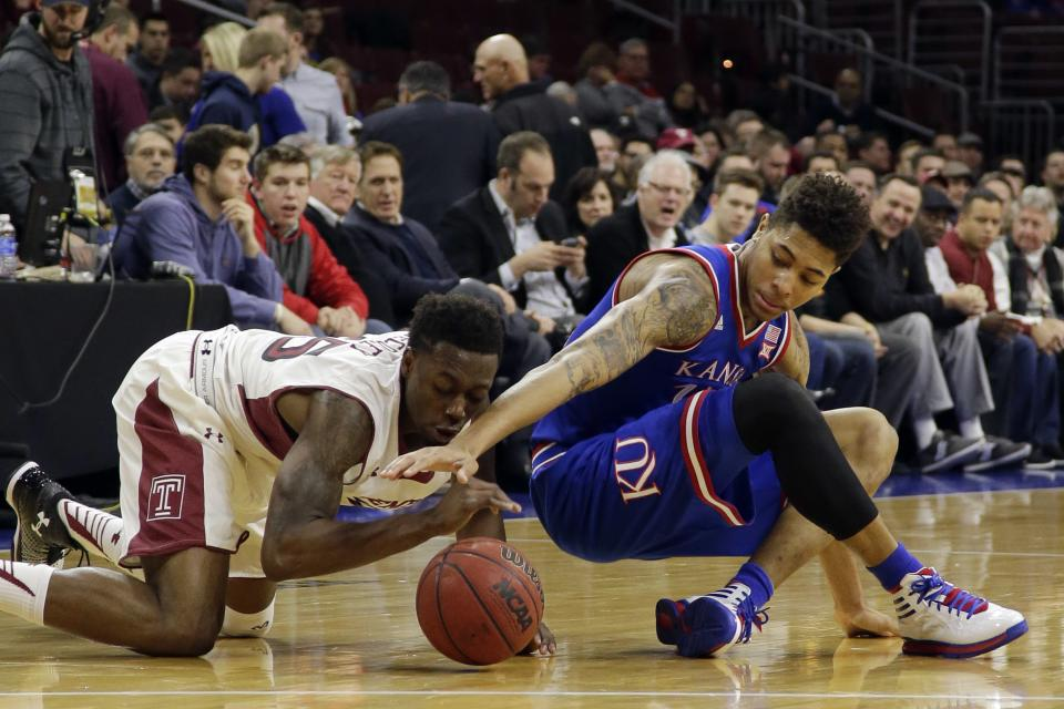 Temple stuns No. 10 Kansas with 77-52 blowout