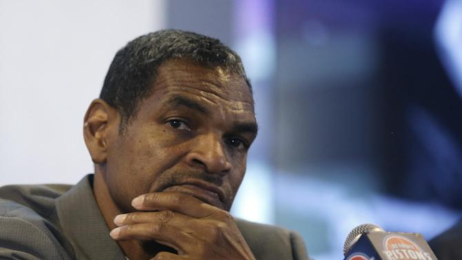 Maurice Cheeks listens to a reporters question during a news conference at The Palace of Auburn Hills, Mich., where he was introduced as the Detroit Pistons new head coach, Thursday, June 13, 2013. Cheeks joins the Pistons after serving four years as an assistant coach with Oklahoma City. (AP Photo/Carlos Osorio)