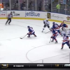 Jaroslav Halak Save on Justin Williams (14:59/1st)