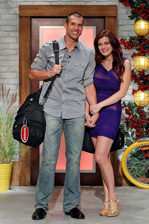"Brendan and Rachel pose for a photo prior to moving in to the ""Big Brother"" Season 13 House."