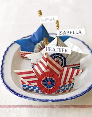 4th of july craft hats