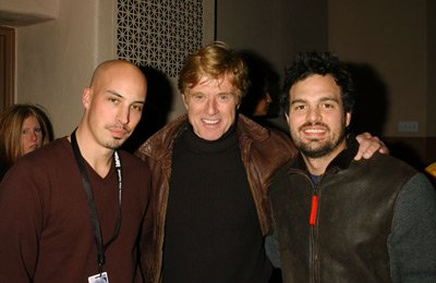 Austin Chick, Robert Redford and Mark Ruffalo