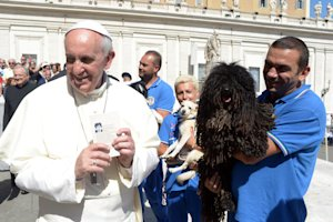 In this photo provided by the Vatican newspaper L'Osservatore…