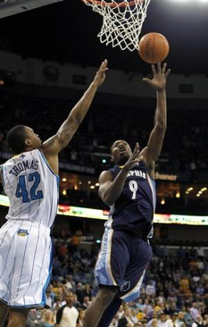 Gordon, Kaman lead Hornets over Grizzlies 95-80