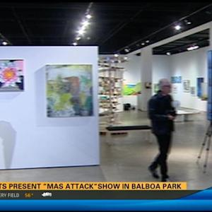 Artists presented MAS Attack show in Balboa Park 11:00 p.m.