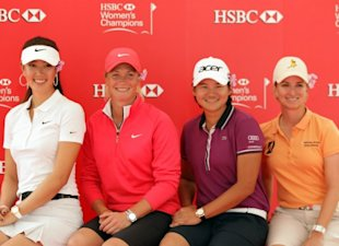 The field includes (from left) Michelle Wie, Suzann Pettersen, Yani Tseng and Karrie Webb (Getty Images
