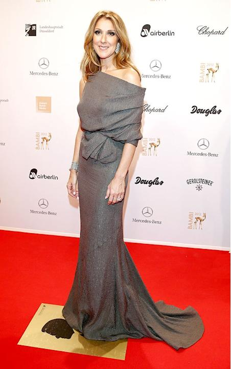 Celine Dion has been MIA in recent months, but the Canadian chanteuse made a glamorous return to the red carpet late last week at the annual Bambi Awards in Duesseldorf, Germany. Looking as elegant as