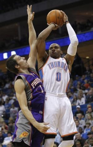 Durant, Westbrook help Thunder win in Tulsa