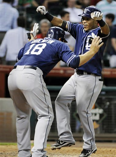 Amarista's slam caps 6-run 9th, Padres beat Astros