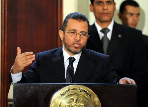 Egyptian Prime Minister Hisham Qandil seen here in August 2012, has urged a major US business delegation to invest in post-Mubarak Egypt, as he sought to showcase an attractive investment environment