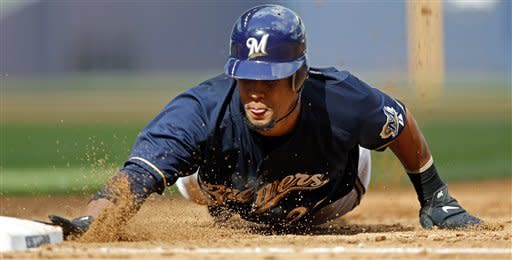 Brewers power past Marlins 13-12