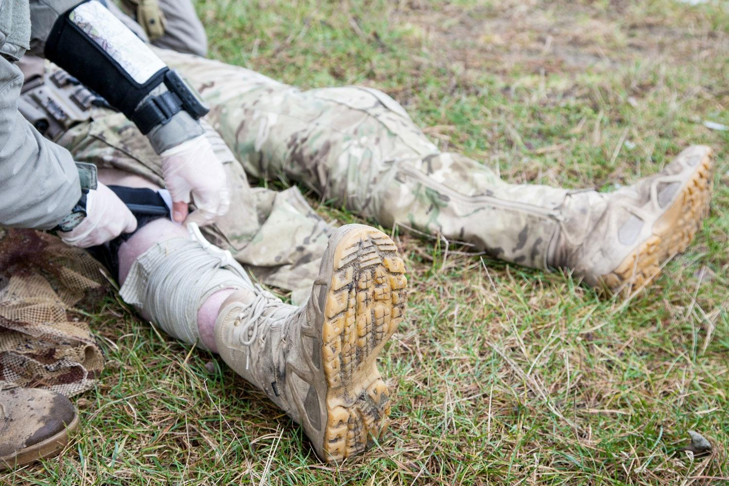 This bleeding virtual leg may help train combat medics to perform better in the field