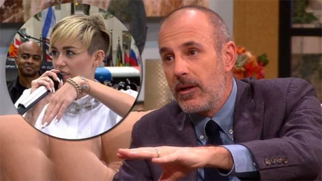 Matt Lauer / Miley Cyrus -- Access Hollywood